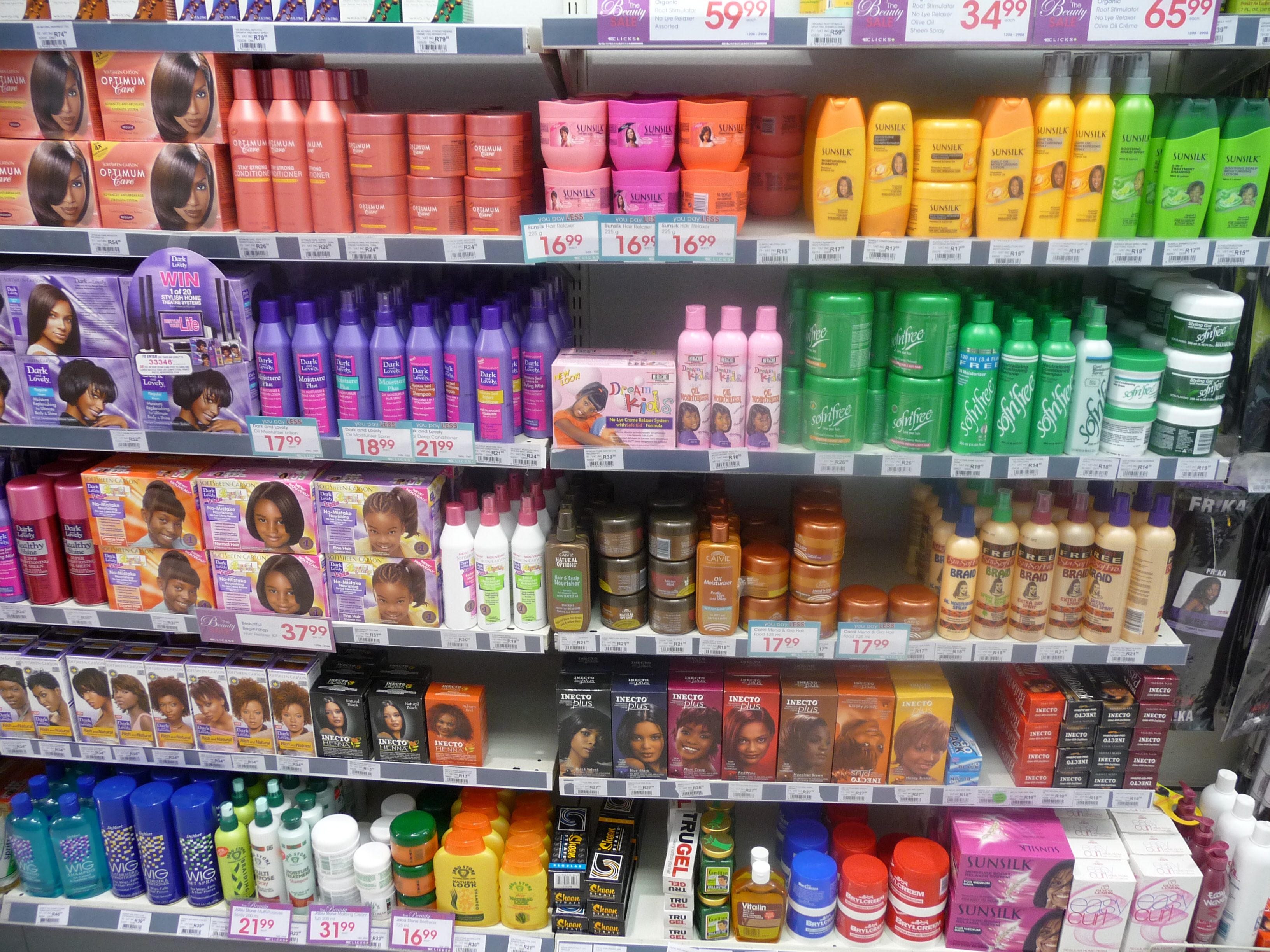 Black Hair Care Products At A Local Variety